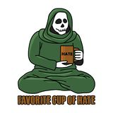 Favorite Cup of Hate. Quote of drinking royalty free illustration