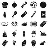 Favorite delicacy icons set, simple style. Favorite delicacy icons set. Simple set of 25 favorite delicacy vector icons for web isolated on white background Royalty Free Stock Photo