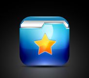 Favorite folder icon concept Stock Photography