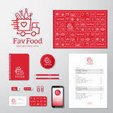 Favorite Food Delivery Abstract Vector Concept Royalty Free Stock Images