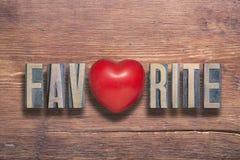 Favorite heart wooden Stock Photo