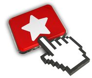 Favorite Icon. 3D illustration Icon- Hand Cursor Click Stock Photos