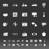 Favorite and like icons on gray background Stock Images