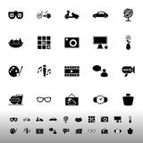 Favorite and like icons on white background Royalty Free Stock Images