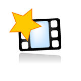 Favorite movie video icon. Vector icon or logo for favorite video Royalty Free Stock Photo