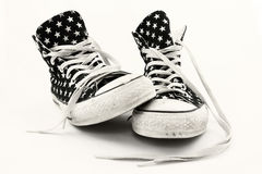 Favorite Old Sneakers Royalty Free Stock Photo