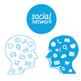 Favorite of program marketer social media  in the form icons Stock Photo