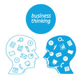 Favorite of software business analyst in the form icons Royalty Free Stock Photos