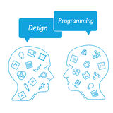 Favorite of software programmers in the form icons Stock Image