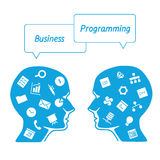 Favorite of software programmers in the form icons Royalty Free Stock Images