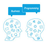 Favorite of software programmers in the form icons Royalty Free Stock Image