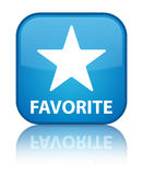 Favorite (star icon) special cyan blue square button Royalty Free Stock Images