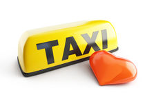 Favorite taxi on white background Stock Photo