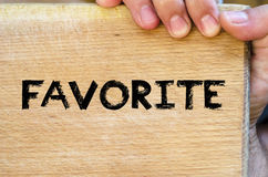 Favorite text concept Royalty Free Stock Photography