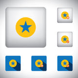 Favorite vector button icons set for bookmarking in websites and. Mobile apps and for concepts like adding, rating, appriasal, approval stock illustration