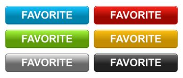 Favorite web buttons on white stock photos