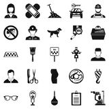 Favorite work icons set, simple style. Favorite work icons set. Simple set of 25 favorite work vector icons for web isolated on white background Royalty Free Stock Image