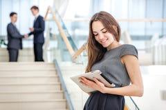 Favorite work! Woman businessman Royalty Free Stock Photo