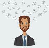 Favoriten programmerar och bearbetar chefprojekt, affärsanalytiker Arkivfoton