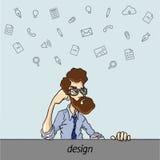 Favoriten programmerar och bearbetar formgivare Arkivfoto