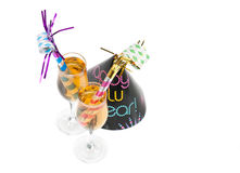 Favoritos do partido da véspera de Ano Novo Imagens de Stock Royalty Free
