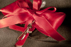 Favors red to celebrate the achievement of the end of the university Royalty Free Stock Image