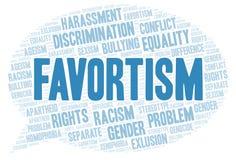 Favortism -歧视的类型-词云彩 库存例证