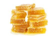 Favos de mel em um fundo branco Imagem de Stock