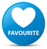 Favourite (heart icon) cyan blue round button. Favourite (heart icon) isolated on cyan blue round button abstract illustration Stock Photos