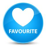 Favourite (heart icon) elegant cyan blue round button. Favourite (heart icon) isolated on elegant cyan blue round button abstract illustration Stock Images