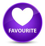 Favourite (heart icon) elegant purple round button. Favourite (heart icon) isolated on elegant purple round button abstract illustration Royalty Free Stock Photo