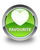 Favourite (heart icon) glossy green round button Royalty Free Stock Image