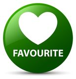 Favourite (heart icon) green round button. Favourite (heart icon) isolated on green round button abstract illustration Royalty Free Stock Images