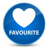Favourite (heart icon) elegant blue round button. Favourite (heart icon) isolated on elegant blue round button abstract illustration Stock Image