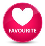 Favourite (heart icon) elegant pink round button. Favourite (heart icon) isolated on elegant pink round button abstract illustration Stock Photo