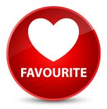Favourite (heart icon) elegant red round button. Favourite (heart icon) isolated on elegant red round button abstract illustration Royalty Free Stock Photography