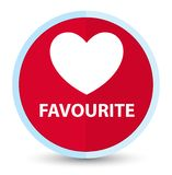 Favourite (heart icon) flat prime red round button. Favourite (heart icon) isolated on flat prime red round button abstract illustration vector illustration