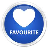 Favourite (heart icon) premium blue round button. Favourite (heart icon) isolated on premium blue round button abstract illustration Stock Photo