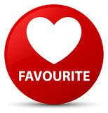 Favourite (heart icon) red round button. Favourite (heart icon) isolated on red round button abstract illustration Stock Images