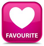 Favourite (heart icon) special pink square button Stock Photo