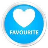 Favourite (heart icon) premium cyan blue round button. Favourite (heart icon) isolated on premium cyan blue round button abstract illustration Royalty Free Stock Images