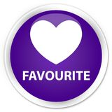 Favourite (heart icon) premium purple round button. Favourite (heart icon)  on premium purple round button abstract illustration Stock Photography