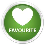 Favourite (heart icon) premium soft green round button. Favourite (heart icon) isolated on premium soft green round button abstract illustration Royalty Free Stock Images