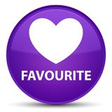Favourite (heart icon) special purple round button Royalty Free Stock Photos