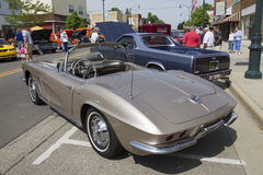 1962 Fawn Beige Chevy Corvette Stock Afbeelding