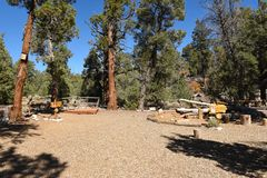 Big Bear Discovery Center putdoor education area Stock Images