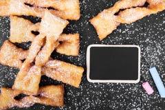 Faworki - παραδοσιακά πολωνικά μπισκότα Στοκ φωτογραφία με δικαίωμα ελεύθερης χρήσης