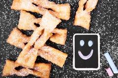 Faworki - παραδοσιακά πολωνικά μπισκότα Στοκ Φωτογραφίες
