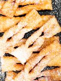 Faworki - Traditional Polish cookies served at Fat Thursday. Angel wings cookies Royalty Free Stock Images