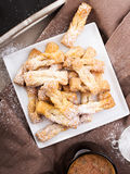 Faworki - Traditional Polish cookies served at Fat Thursday Royalty Free Stock Image
